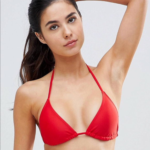 Bikini Top Missguided Asos Red Nwt nOPk80w